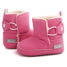 2017 New Boy Girl Baby Boots Warm Cute Toddler Winter First Walker Shoes Brand Soft Comfortable Infant Crib Booties Size 3 4 5