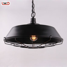 Pendant Lights American Country Retro Wrought Iron Contemporary Restaurant Bar Warehouse Lamp Light Wrought Iron Pendant Lamp