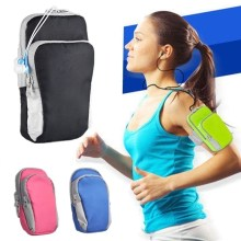 Universal Sports Armband Case Zippered Fitness Running Arm Band Bag Pouch Jogging Workout Cover for Mobile Phone Smartphone(China)