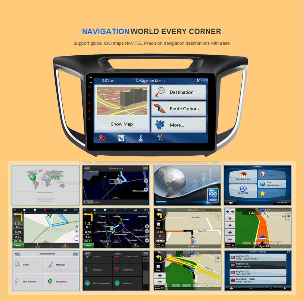 Android 6.0 CAR Audio DVD player FOR HYUNDAI ix25CRETA gps Multimedia head device unit receiver BT WIFI navigation
