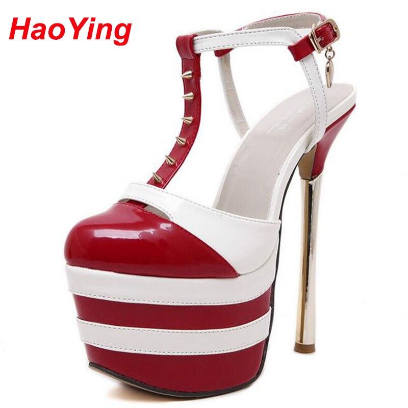 platform sandals for women rivet pumps Summer women shoes high heels with studs Sandals Women heels shoes sexy sandals D497<br><br>Aliexpress
