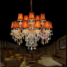 contemporary chandelier with fabric lampshade LED bulb chandelier living room lights modern chandelier kitchen lustre chandelier