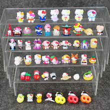 50pcs/lot Cute Hello Kitty PVC Figure Kawaii Hello Kitty 1.5-3cm Dolls Mini Model Toy Birthday Gift for Boys and Girls