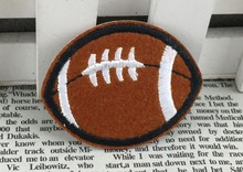 Wholesale bulk Lot Embroidered Sport football iron on sew on patch DIY sewing kids wear 5x4cm