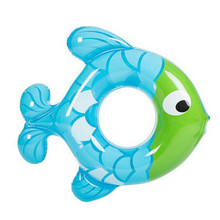 2017 New Arrival Cute Fish Shape Baby Inflatable Swim Ring Children Swimming Circle Kids Swimming Pool Safety Child Party Toys(China)