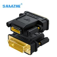 SAMZHE DVI 24+1 to HDMI Adapter HDMI Male to DVI Female Converter 1080P Support for Computer to Display Screen(China)