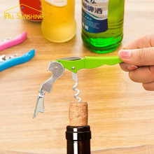 Professional Stainless Red Wine Opener Screw Corkscrew Double Hinged Multifunction Bottle Opener Household Accessories