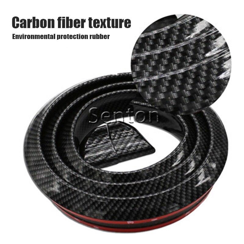 Car Carbon Fiber Spoilers Sticker For Peugeot 307 206 308 407 207 2008 3008 508 406 208 For Citroen C4 C5 C3 C2 Accessories<br>