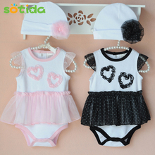 Hot 2017 summer fashion European and American style cotton baby girl baby clothing,body baby,bodysuit (jumpsuit+hat)baby body