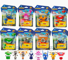 8PCS/Lot Super Wings Mini Planes Model Airplane Transformation Robot Brinquedos Action Figures Toys baby toys For Christmas gift
