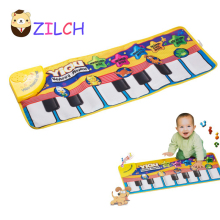 2016 New Multifunction Baby Play Crawling Mat Touch Type Electronic Piano Music Game Mats Animal Sounds Sings Toys for Kids Gift