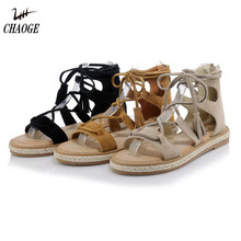 2018 summer flat shoes straw hemp lace female code 33-42 open toe fringed bag with free shipping # 12(China)