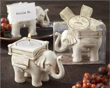 Free Shipping Wedding Candle Gifts Creative Elephant Crafts Resin Party Christmas Candle Home Decoration(China)