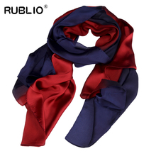 Hot Fashion Beach towel Shawl Scarf Gradient Silk Hijab Neck Warmer Scarves Women Girls Cape 90cm*180cm Long Headband(China)