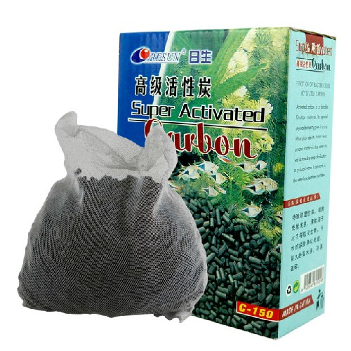 detail feedback questions about super activated carbon 150g fish