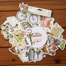 NEW! 25pcs/pack Retro Vintage Flower Decorative Pre Die Cut Stickers for DIY Scrapbooking Planner/Card Making Craft