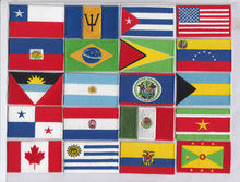 mix around the world iron on embroidery flag patches logos morale football patch american flag apparel Choose yourself