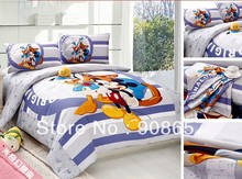 twin full queen king duvet covers cotton bedding set Mickey Mouse and Donald Duck prints children's girls bed linens 3pcs 4pcs