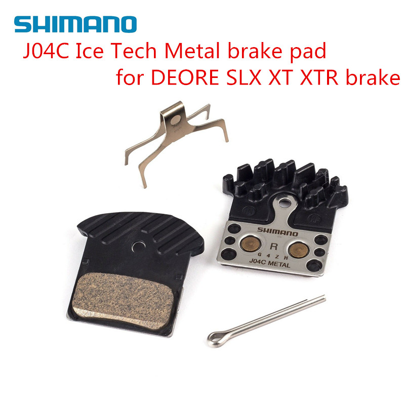 New Shimano F03C Metal Cooling Fin Ice tech Brake Pads for XTR XT SLX Deore