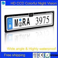Free shipping!Brand New Universal Night Vision European License Plate Frame Car Reverse Camere,Car Camera(China)