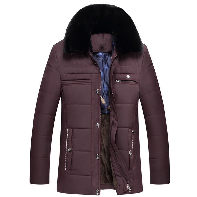 winter jacket men Middle-aged and old men's fashionable and upscale style of leisure and warmth  mens winter jacket