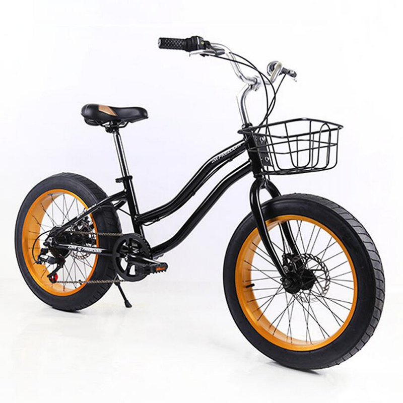 20 inches snow bicycle Children bike 7 speed mountain bike double disc brakes mountain bicycle