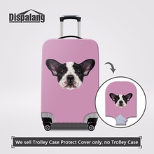 Dispalang Cute Dog Head Prints Women Luggage Protective Covers For 18-30 inch Cases Thick Dust Rain Cover Elastic Suitcase Cover