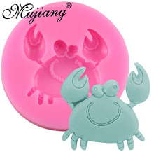 Mujiang 3D Crab Silicone Molds Resin Clay Soap Mold Fondant Cake Decorating Tools Candy Cupcake Chocolate Kitchen Baking Moulds(China)