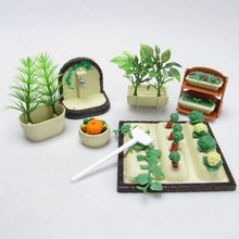 DIY Handmade Miniature Gardening Vegetables Sets For Dollhouse Furniture Outdoor Accessory Toys Set(China)