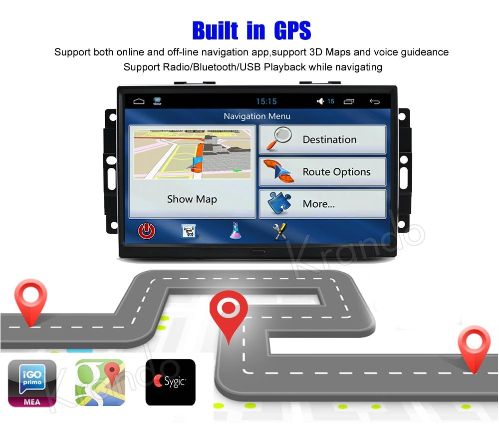 Krando chrysler 300C jeep cherokee Android car radio gps dvd player navigation multimedia system (5)