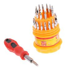 Buy 31 1 Multi-function Precision Universal Screwdriver Set Explosion-proof Insulation Repair Tool Kit Phone Computer Orange for $2.74 in AliExpress store