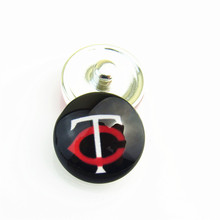 DIY MLB Minnesota Twins Baseball Hat Logo Sports Snap Button for Ginger Snap Bracelet Jewelry fit Fans 20pcs/lot(China)