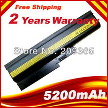 5200mAh Battery for IBM For Lenovo ThinkPad R60e R61 R61e R61i T60 T60p T61 T61p R500 T500 W500 40Y6799 FRU 42T4504(China)