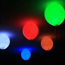 "100pcs/lot 12"" latex mixed color inflatable games balloons with RGB FLASHING light,light up led balloons"