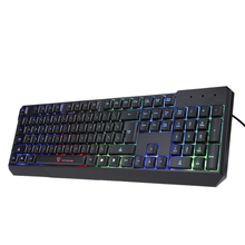 MOTOSPEED Gaming 104 USB Wired Pro Keyboard with 7 Colors LED Backlit Gaming Esport Keyboard for PC Notebook LOL Peripherals(China)