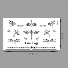 10 PCs in 500 style Wall sticker Water transfer stickers for kids rooms home decoration accessories dragonfly WM024-10PC