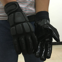 New Arrival Classic American football Gloves Goalkeeper Silica Gel Rugby Ball Gloves Black Speed Grip Catch Balls Size M-XXL