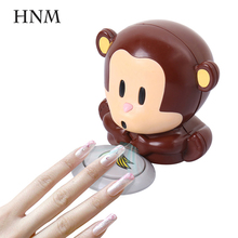 HNM 1pcs Lovely Monkey Nail Art Manicure Nail Air Dryers Nail Polish Air Dryer Nail Art Blower Tool