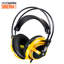 Brand Steelseries Siberia V2 Natus Vincere Edition Gaming Noise Isolating Headphone with 3.5mm microphone yellow color  headsets