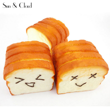 2017 1 Kawaii Jumbo Toast Squishy Expression Card Cellphone Holder Hand Pillow Plush Toy Car Travel Emoji Pillows(China)