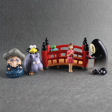 Miyazaki Anime Spirited Away Miniature No Face Figure Chihiro Yubaba Little Mouse PVC Action Figure Collection Model Toy