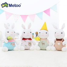 Metoo Rabbit Plush Doll Stuffed Toys For Baby Girls Boys Home Sofa Car Cute Lovely Decoration Children Sweet Birthday Gift(China)