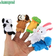 Finger Puppets - 10 pcs Velvet Animal Soft Plush Family Puppets Dec14
