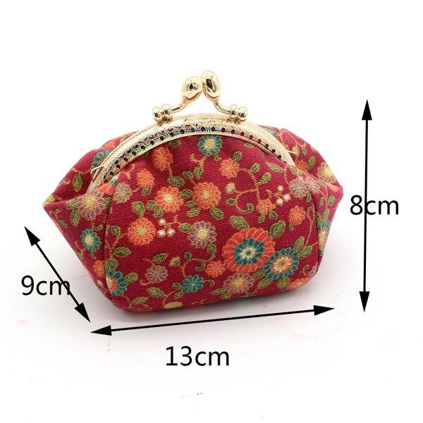 Mini Coin Purse Kiss Lock Girls  Change Purse Hasp Wallet women lady flower bags  (14)