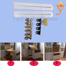 invisible folding table and desk hinge/hardware with flexible function B13