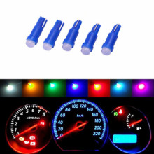 10x T5 COB Car dashboard light instrument Automobile Door Wedge Gauge reading lamp bulb Car Styling white blue 12V wholesale(China)