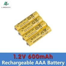 1.2v Ni-CD Yellow 4 psc/lot High energy remote control toy rechargeable Ni-cd rechargeable battery AAA 1.2V 600mAH Free Shipping