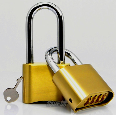 Cadeado Real Fechadura Eletronica Brass Hot 2014 Padlock 4 Code Lock Used In Gate Boxed Or Doors Bicycle with for Management Key<br>