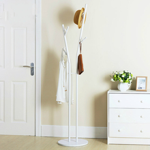 White Simple Style Landing Coat Rack Iron Creative Hanger Simple Living Room Bedroom Clothes Rack