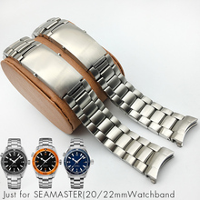 Stainless Steel Watchband 20mm 22mm Watch Bracelet for Omega Seamaster 232 Planet Ocean Silver WatchStrap Man Watch Band + Tools